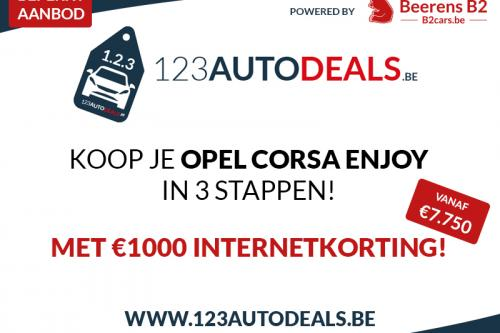 OPEL Corsa 1.2 ENJOY + ALU + AIRCO + RADIO/CD + BLUETOOTH
