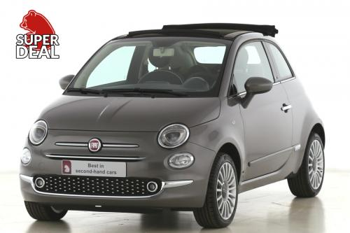 FIAT 500C 1.2 LOUNGE + A/T + AIRCO + CRUISE + PDC + ALU 16